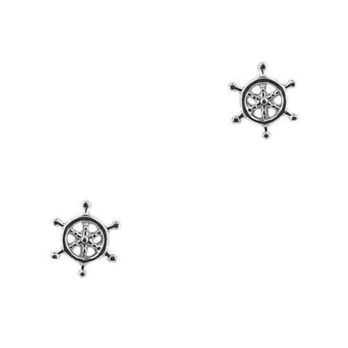 Outlander Inspired Compass Silver Stud Earrings